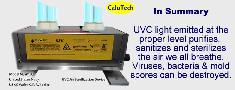 UV air purifiers summary of devices