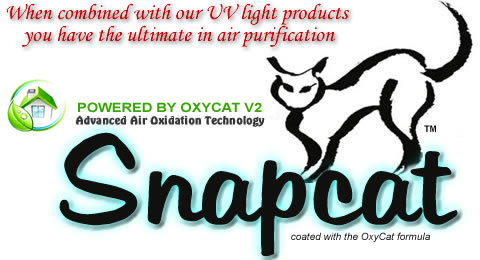 Air purifier with germicidal protection and Snapcat photocatalytic oxidation